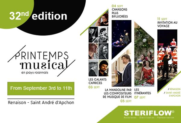 Steriflow partenaire du Printemps Musical en Roannais